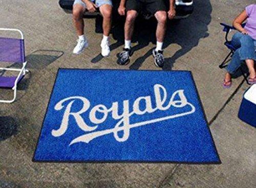 K&A Company MLB - Kansas City Royals Tailgater Rug 5'x6' Non-Skid Vinyl Backing Nylon - Carpet Tiles Kansas City