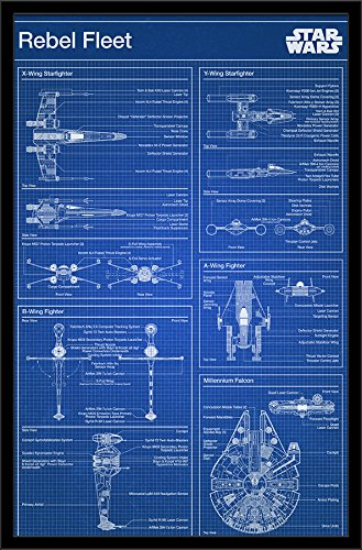 Trends International Star Wars Rebel Blueprint Wall Poster 22375quot