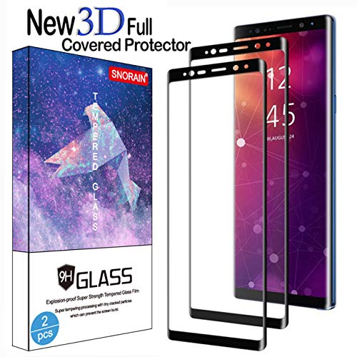 Galaxy Note 9 Screen Protector, (2-Pack) Tempered Glass Screen Protector [Force Resistant up to 11 pounds] [Full Screen Coverage] [Case Friendly] for Samsung Note 9 (Released in 2018)