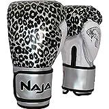 Luvas de Boxe Muay Thai Animal Print 10 OZ Onça Prata NAJA efad91c6e1625