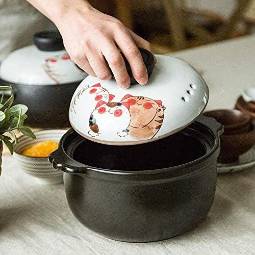 UWY Casserole Pot Pot à ragoût en Terre Cuite Casserole en céramique - Cuisine Essentielle, Stockage de la Chaleur, Mise à Niveau de la Nutrition-White_Capacity 2400ML