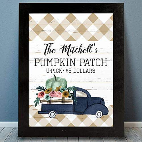Home Decor Personalized Halloween Sign Kitchen Decor Pumpkin Decor, Personalized Pumpkin Wall Sign Fall Decor Halloween Decorations