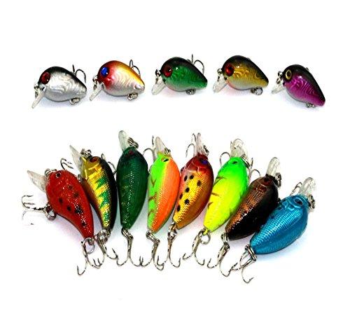 LENPABY 8PCS Fat Free Shad Deep Square Lip//Wiggle Wart 05 Fishing Lure