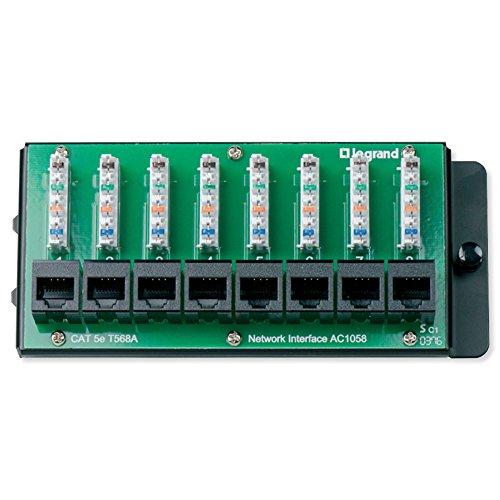 On-Q/Legrand AC1058 8-Port Cat5e Network Interface Module Cat5e Network Interface Module