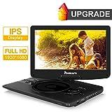 1920×1080 HD 12.5' IPS Portable DVD Player Support Sync Screen, 1080P Video, Resume, AV Out & in, USB SD, Region Free - NAVISKAUTO
