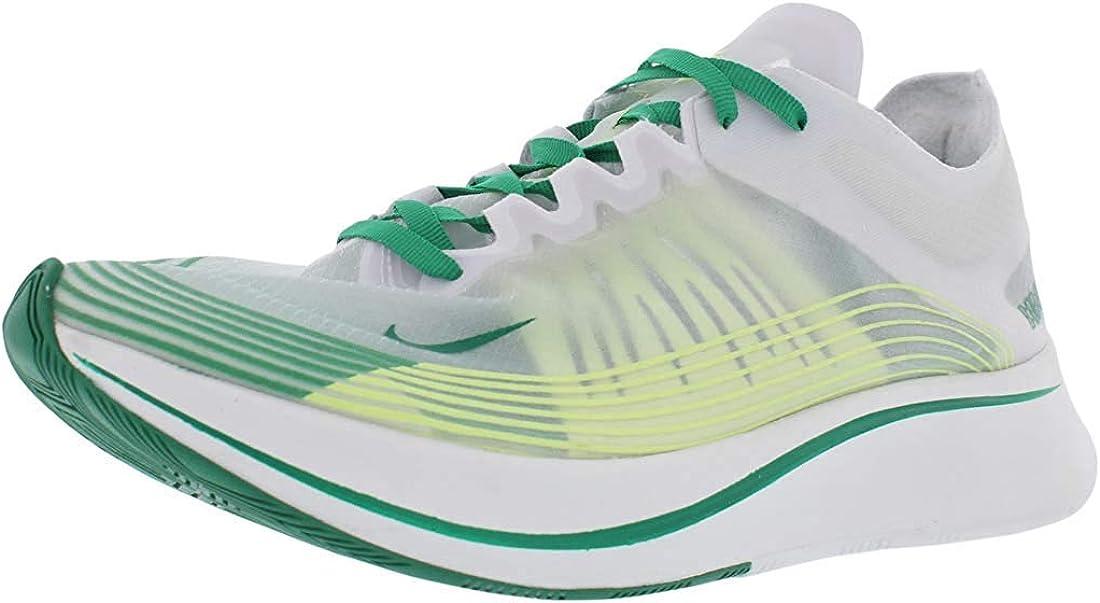 Nike Hombres Nike Zoom Fly SP Deportivos de Moda, White/Lucid Green-Summit White, Talla 9: Amazon.es: Zapatos y complementos