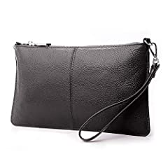 This is new Lecxci womens genuine leather clutch coin wallet. If you are looking for a casual wristlet, please give this a try. You will love its efficiency and convenience. Super casual clutch wristlet and elegantly match yourself. We are fo...