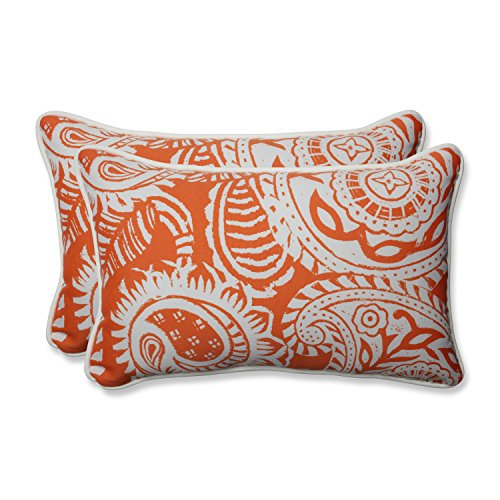 Pillow Perfect Outdoor | Indoor Addie Terra Cotta Rectangular Throw Pillow (Set of, 2 Piece
