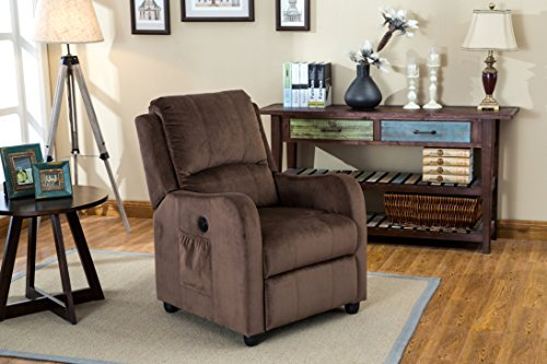 Myco Furniture Aria Velvet Brown Power Recliner (Aria Chair)