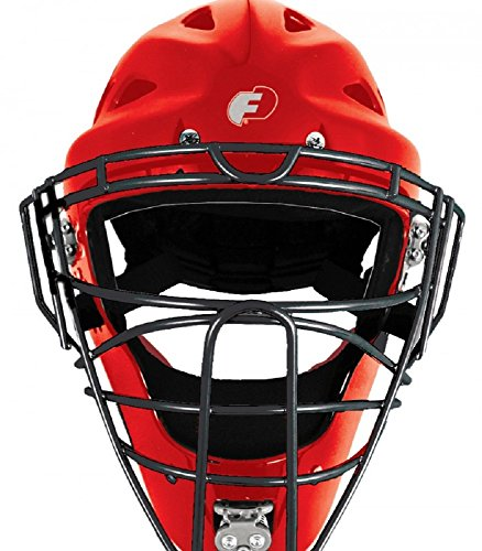 ProGear Force3 Defender Hockey Style Mask (Red/Black, Adult)