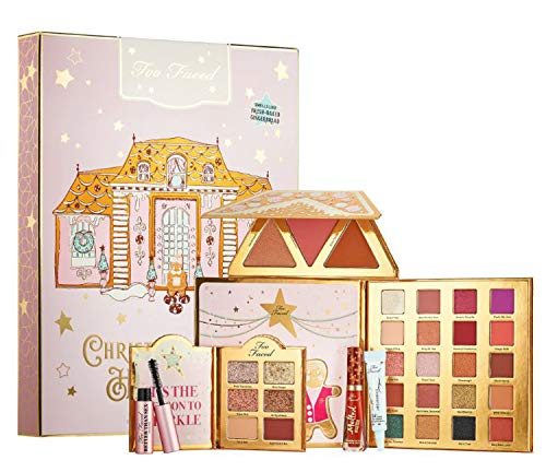 TOO FACED Christmas Limited Edition Collection Makeup Set! 20 Shades Eyeshadow Palette, 6 Shades Eyeshadow Palette, Face Palette, Matte Lipstick, Eye Primer & Mascara! Perfect Gift For Holidays! (Palette Christmas)