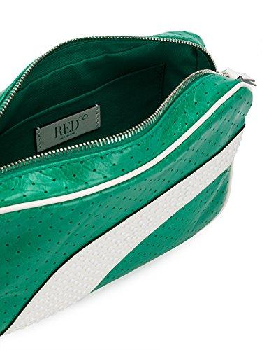 Red Valentino Borsa A Spalla Donna PQ2B0A15VET0YL Pelle Bianco/Verde Nuevos Estilos 2Tlw52