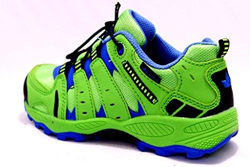 Lico - Zapatillas de senderismo para niño verde, azul