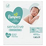 Baby Wipes, Pampers Sensitive Water Based Baby Diaper Wipes, Hypoallergenic and Unscented, 576 Total Wipes in 8X or 9X Refill Packs (Packaging May Vary)