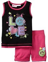 Little Girls' Love 2 Piece Short Set