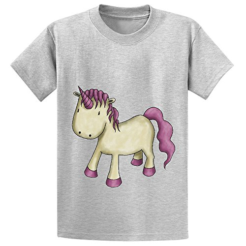 Price comparison product image Mcol Unicorn Who Am I Youth Crew Neck Customized Tees Grey