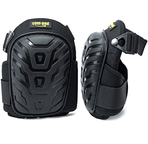 Superior Gel Knee Pads - Heavy Duty Foam Padding Kneepads ideal for construction work, gardening etc. - Extremly comfortable to save your Knees
