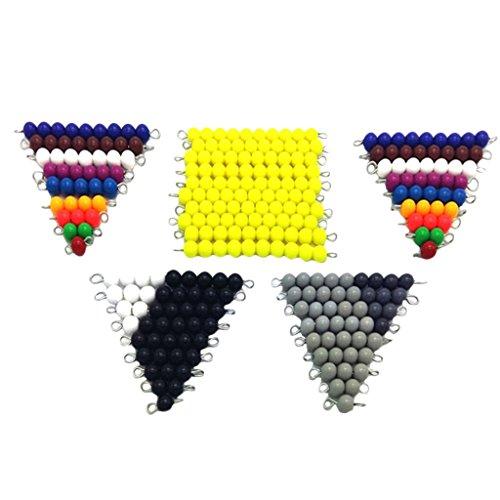 Baoblaze Kit de 1-10 Perles Bandes Enfants Matériel Montessori Maths Sensoriel Enseignement