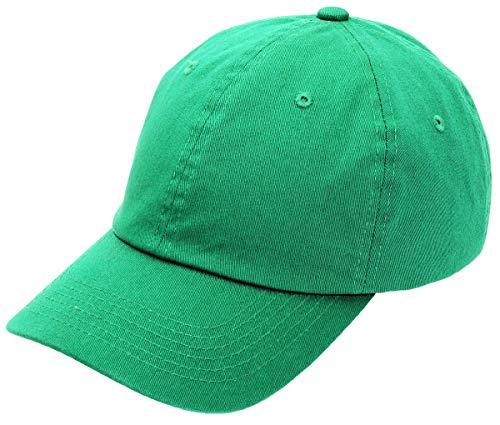 AZTRONA Baseball Cap for Men Women - 100% Cotton Classic Dad Hat (Kelly Green)