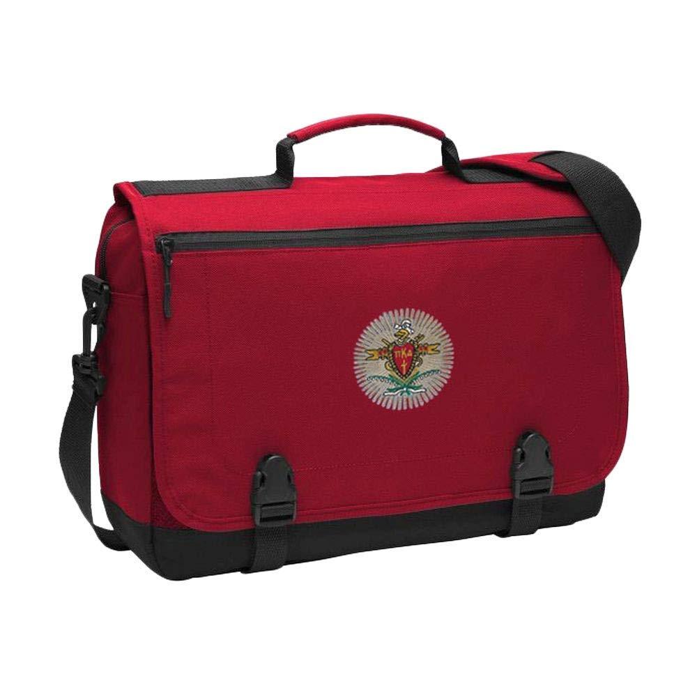 Greekgear Pi Kappa Alpha PIKE Emblem Briefcase RED