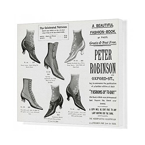 Prints Prints Prints 20x16 Canvas Print of Advert for Peter Robinson s ladies footwear 1905 (14410474)