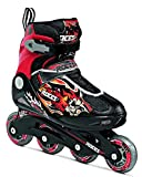Roces Compy 5.0 Boy's Inline Skates Black Red 2.5-4.5