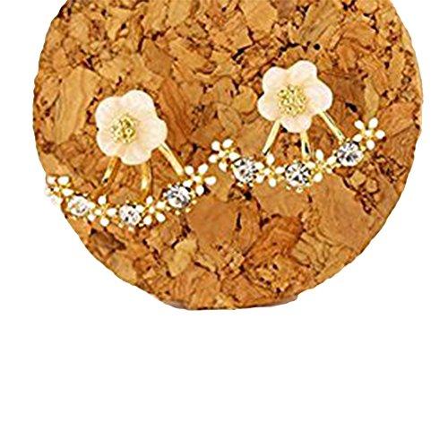 Flower Crystal Silver Earrings Greengroup15