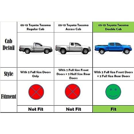 Amazon.com: VioGi Fit:05-16 Toyota Tacoma Double/Crew Cab (w/ 4 Full Size Doors) 5\