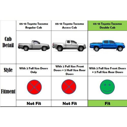 VioGi Fit 05-16 Toyota Tacoma Double/Crew Cab (w/ 4 Full Size Doors) 5