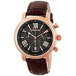 Thomas Earnshaw Men's ES-0016-04 Longcase Analog Display Swiss Quartz Brown Watch
