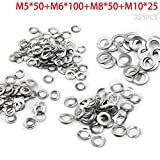 Motoparty DIN137A M5 M6 M8 M10 Wave Washers Spring Washer 5mm 6mm 8mm 10mm Gasket Curved Washers Din 137A (225PCS)