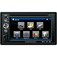 Power Acoustik PTID-6250B In Dash DVD AM-FM Receiver with 6.2 inches Touchscreen Monitor with USB/SD Input