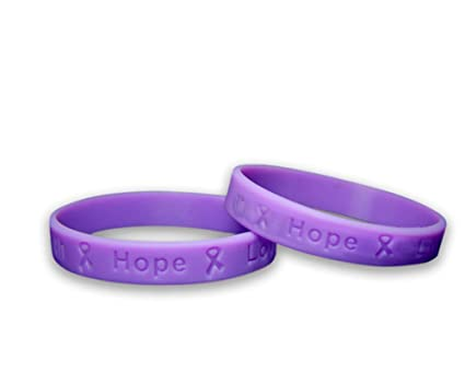 023872492e8 50 Pack Child Pancreatic Cancer Awareness Purple Silicone Bracelets - Child  Size (Wholesale Pack - 50 Bracelets)