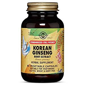 Solgar - SFP Korean Ginseng Root Extract Vegetable Capsules 60 Count
