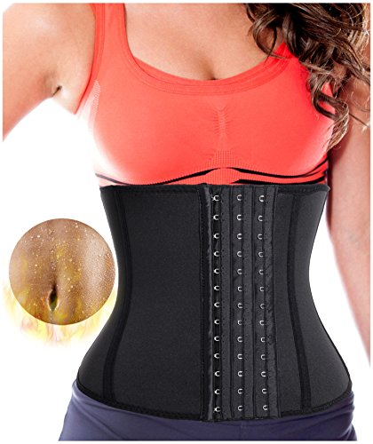Gotoly Sweat Waist Trainer Training Thermo Neoprene Fitness Yoga Body Shaper (XL fit (US 14-16), Black)