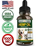 Hemp Oil for Dogs and Cats - 1000MG - Anxiety Relief for Dogs and Cats...