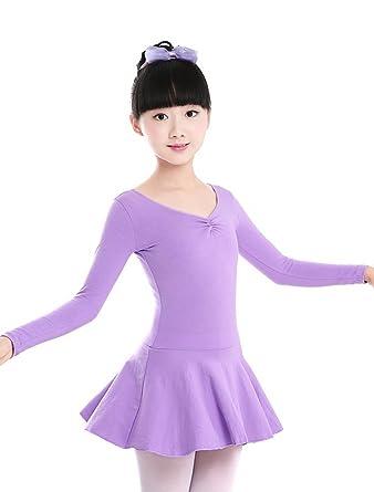 1cf128fa2 Amazon.com  ARAUS Girls Dance Leotard Tutu Skirt Long Sleeve Ballet ...
