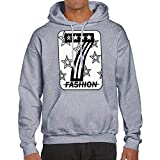 kaifongfu Men Sweatshirt,Fashion Long Sleeve Print Mens Pullover Top Hooded(Gray,XL)
