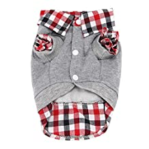 1PC Small Dog Cat Puppy Warm Clothes POLO Shirt Top Costume by FEITONG