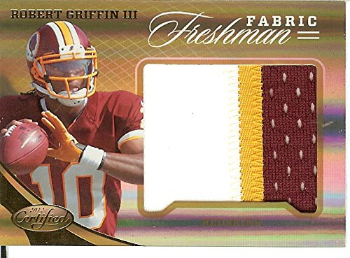 Football NFL 2012 Certified Freshman Fabric Mirror Gold Prime Materials Jumbo #317 Robert Griffin III RC Rookie MEM 5/25 Redskins