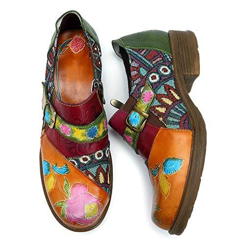 EU ZHRUI Marron Marron coloré Chaussures Taille 39 wqqxg8Ir