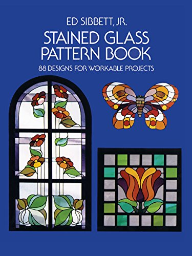 Stained Glass Pattern Book: 88 Designs for Workable Projects (Dover Stained Glass Instruction) Bottle Glass Painting