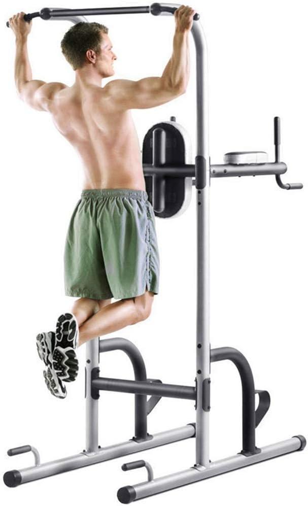 ぶら下がり健康器 懸垂マシン チンニング タワーのワークアウトディップステーションを引き上げる調節可能な高さバースタンドタワーを持ち上げて/屋内用ホームジムフィットネスディップスタンド 自宅 エクササイズ 腹筋 胸筋 腕 背中 広背筋 筋肉 強化 腕立 (色 : Steel color, サイズ : 105*212*150cm) Steel color 105*212*150cm