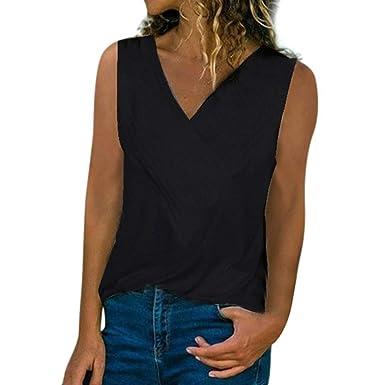 New Women/'s Plain Sleeveless Turtle Neck Summer Crop Top Vest T-Shirt