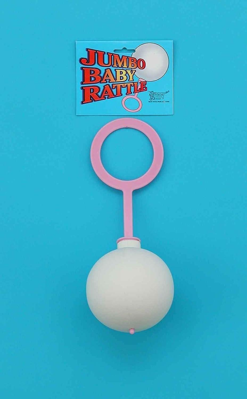 Forum Novelties Jumbo Baby Rattle - Pink