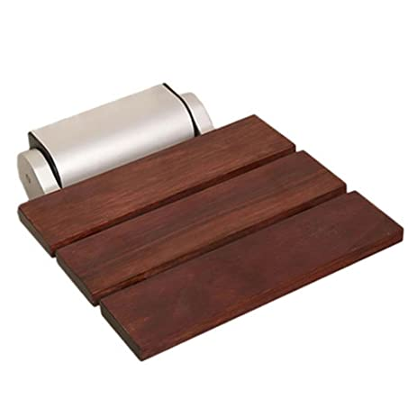 Amazon.com: TSAR003 Teak/Bamboo Bathroom Folding Shower Seat Wall ...