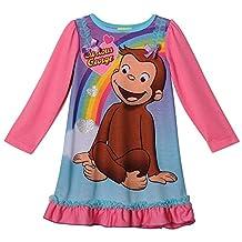 Curious George Girls Long Sleeve Nightgown Pajamas (Toddler)