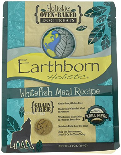 Earthborn Holistic Whitefish Meal Recipe Ovenbaked Dog Treats (1 Pack), One Size Review