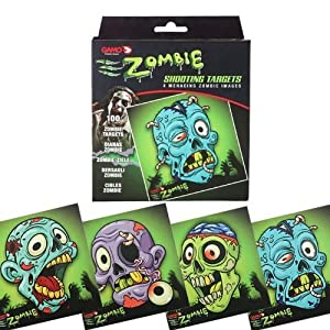witzige Zombie- Zielscheiben, Farbdruck, 14cm x 14cm , 100 Stück