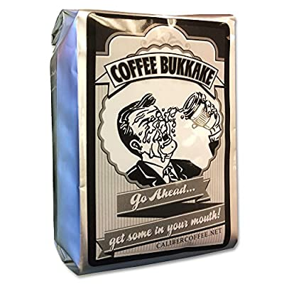Coffee Bukkake - Mouth Worthy Blended Coffee Flavored with Maple/Spice & Caribbean Rum - Wholebean Little Squirt 4oz Sampler